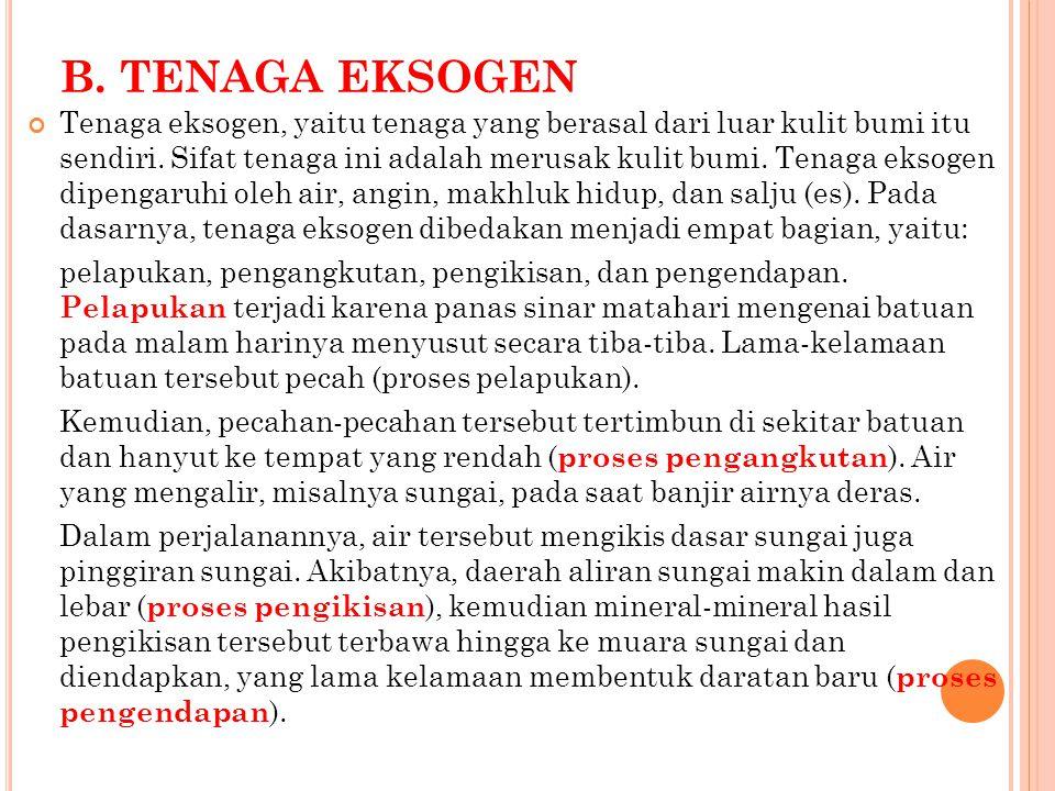 B. TENAGA EKSOGEN