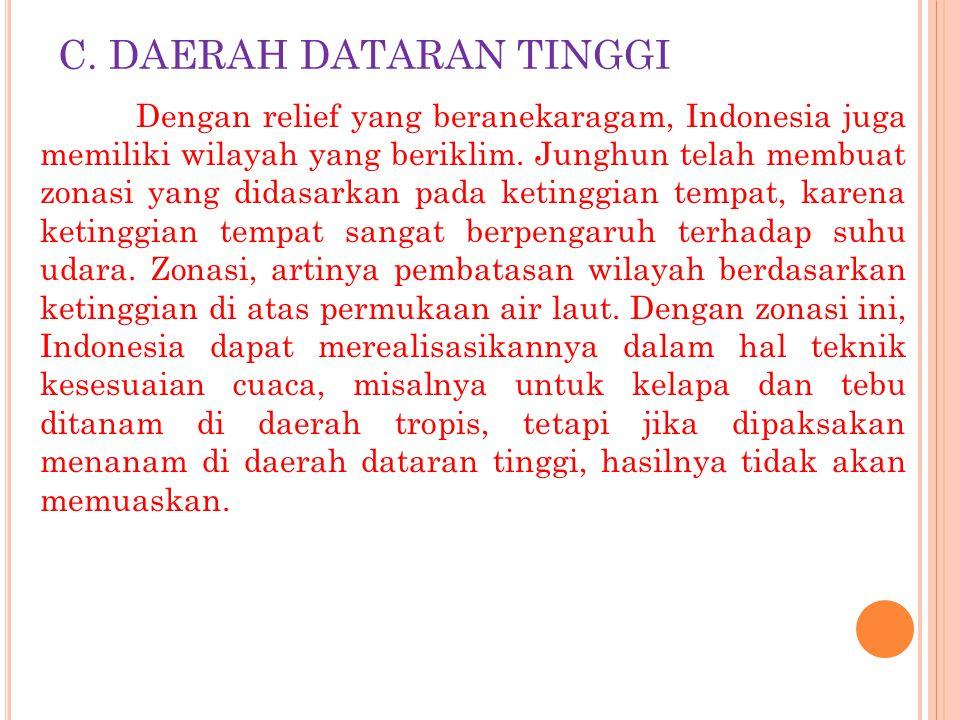 C. DAERAH DATARAN TINGGI