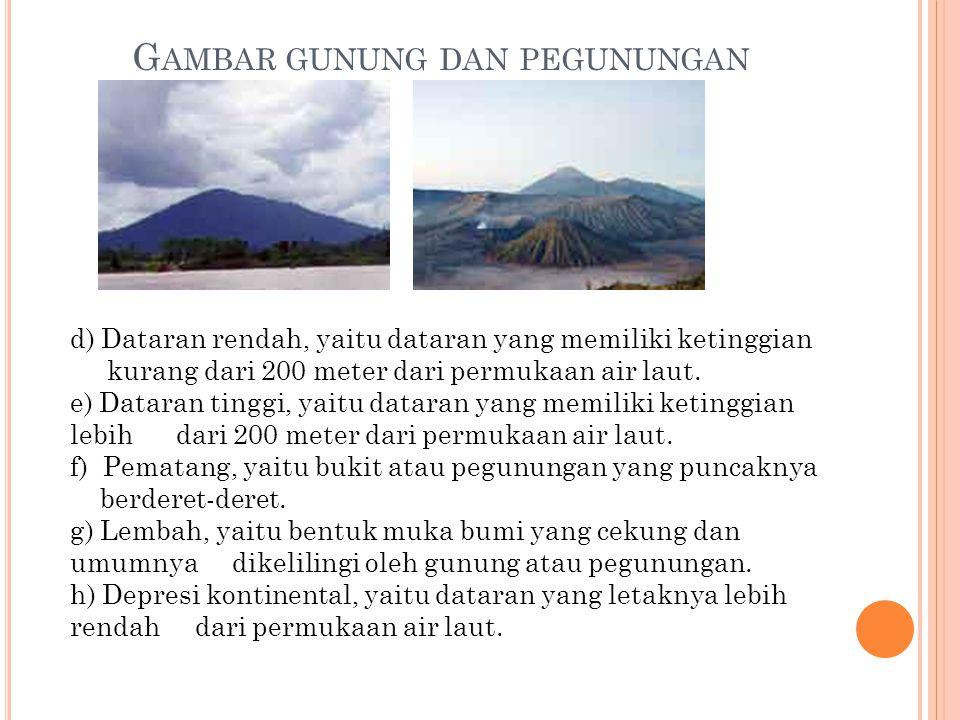 Gambar gunung dan pegunungan