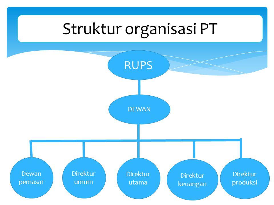 Struktur organisasi PT