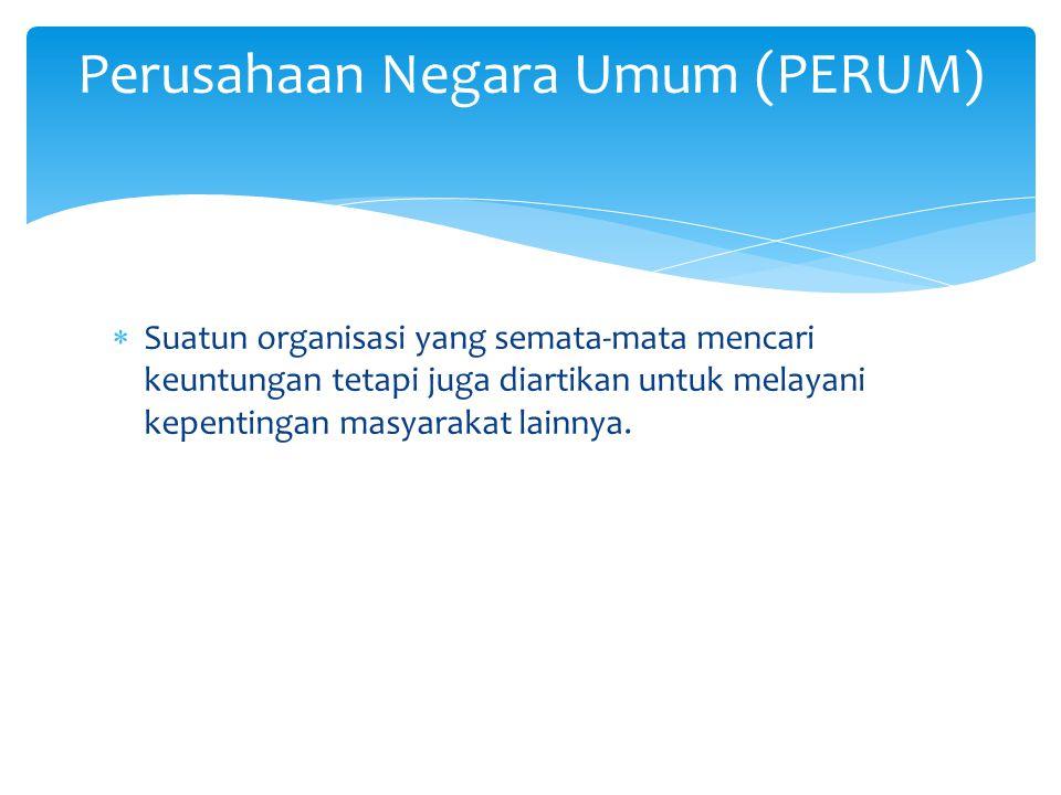Perusahaan Negara Umum (PERUM)