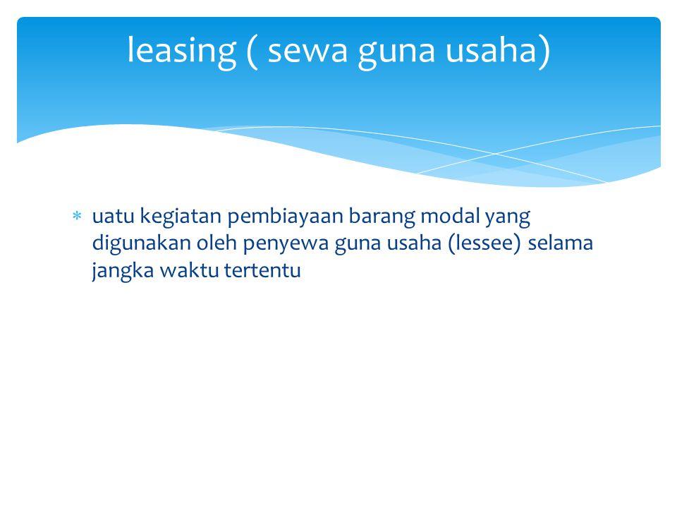 leasing ( sewa guna usaha)