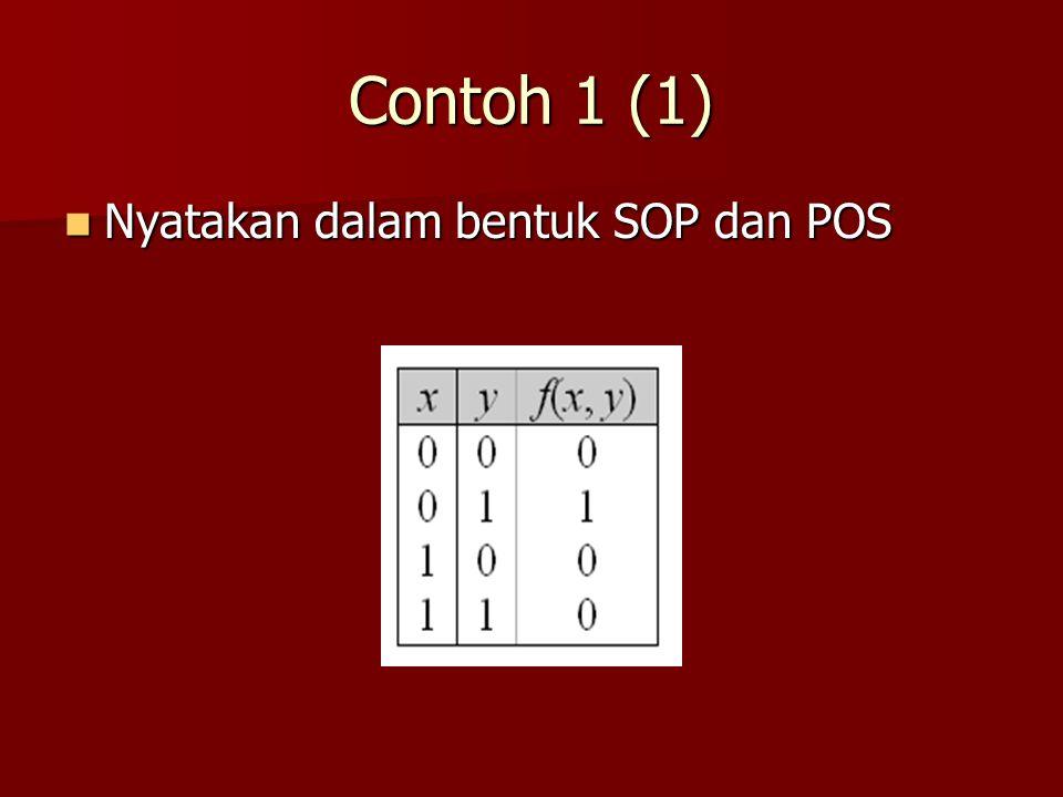 Contoh 1 (1) Nyatakan dalam bentuk SOP dan POS