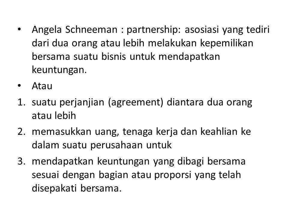 suatu perjanjian (agreement) diantara dua orang atau lebih