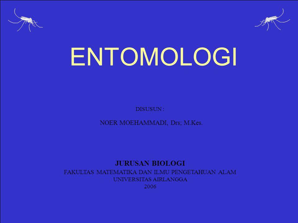 ENTOMOLOGI JURUSAN BIOLOGI NOER MOEHAMMADI, Drs; M.Kes.