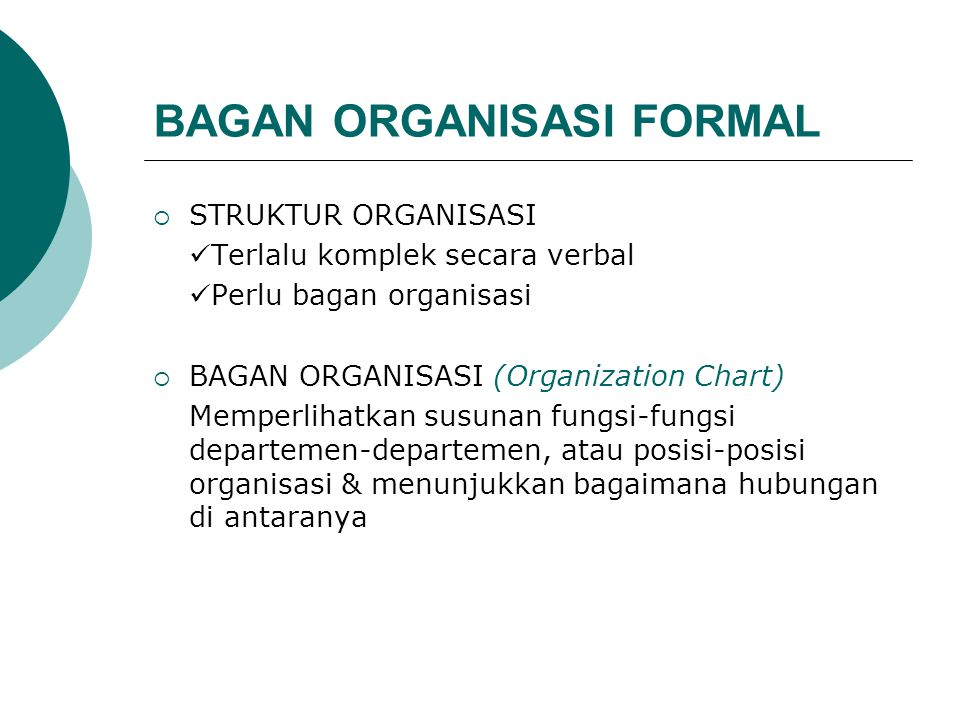 BAGAN ORGANISASI FORMAL