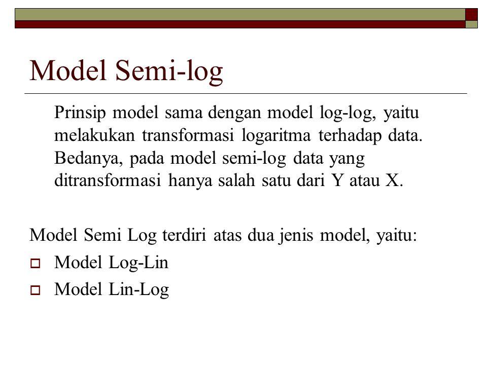 Model Semi-log
