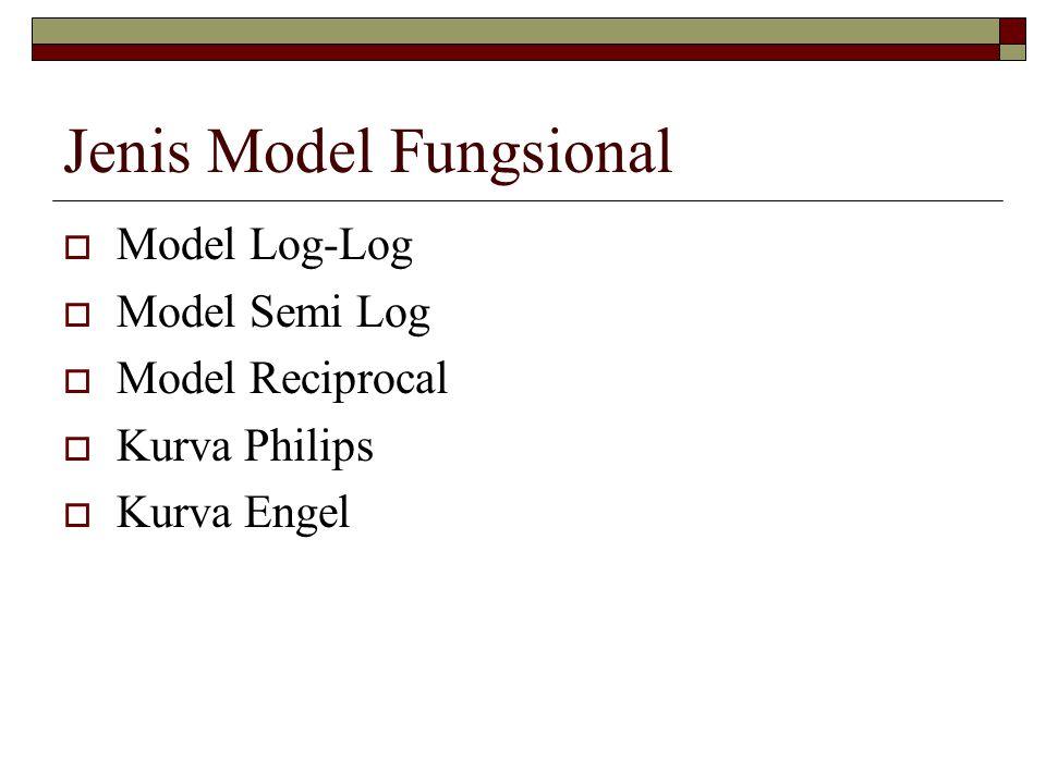 Jenis Model Fungsional