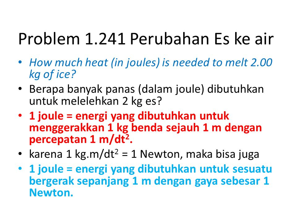 Problem 1.241 Perubahan Es ke air