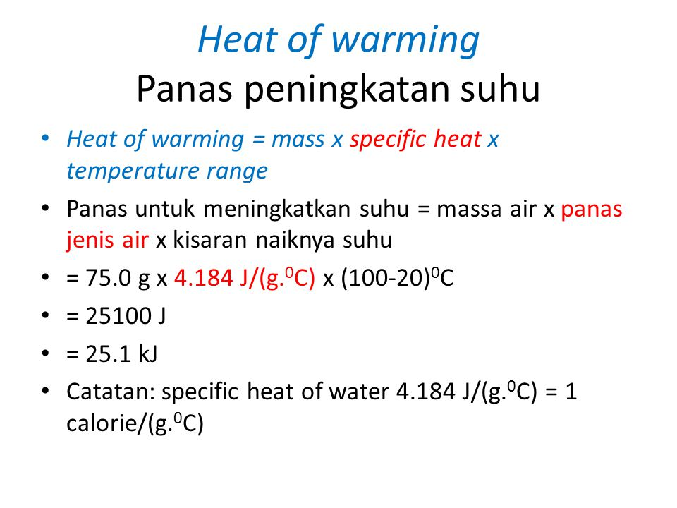 Heat of warming Panas peningkatan suhu