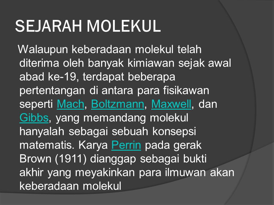 SEJARAH MOLEKUL