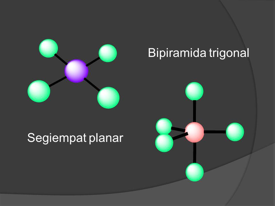 Bipiramida trigonal Segiempat planar