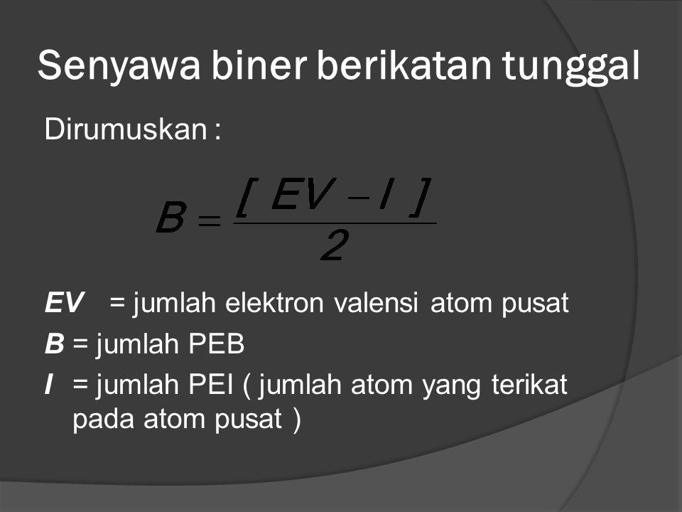 Senyawa biner berikatan tunggal
