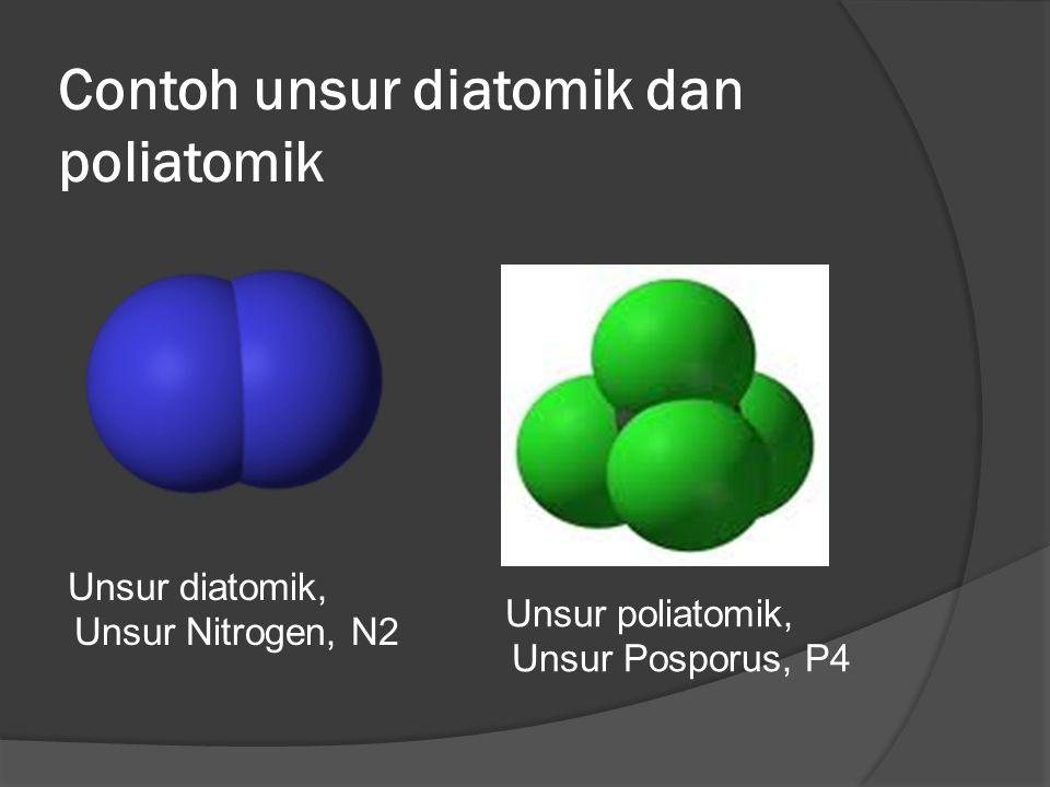 Contoh unsur diatomik dan poliatomik