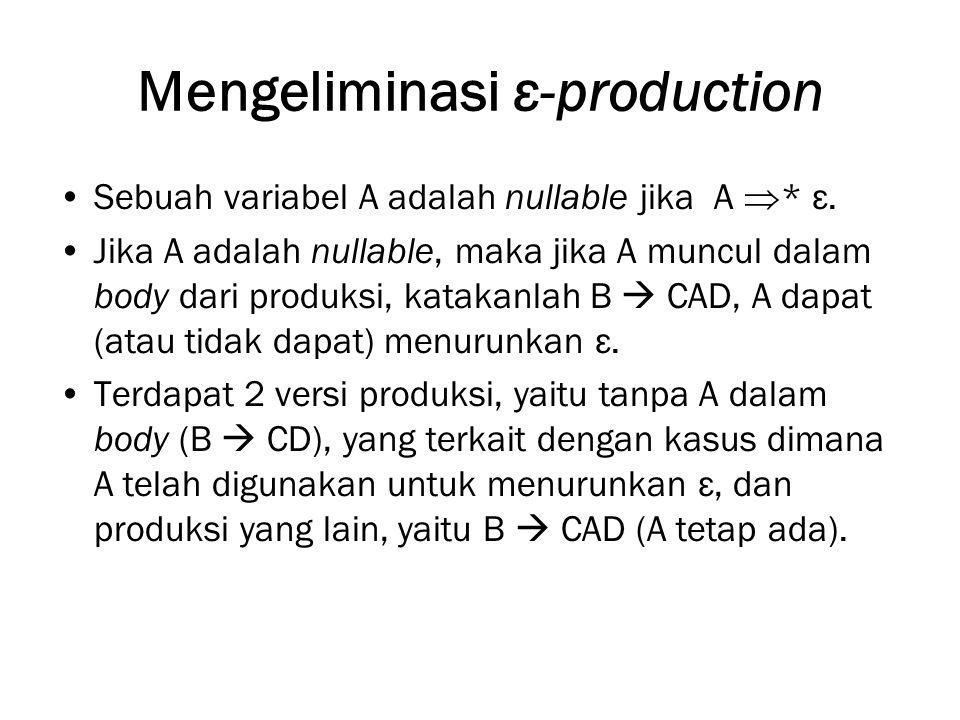 Mengeliminasi ε-production