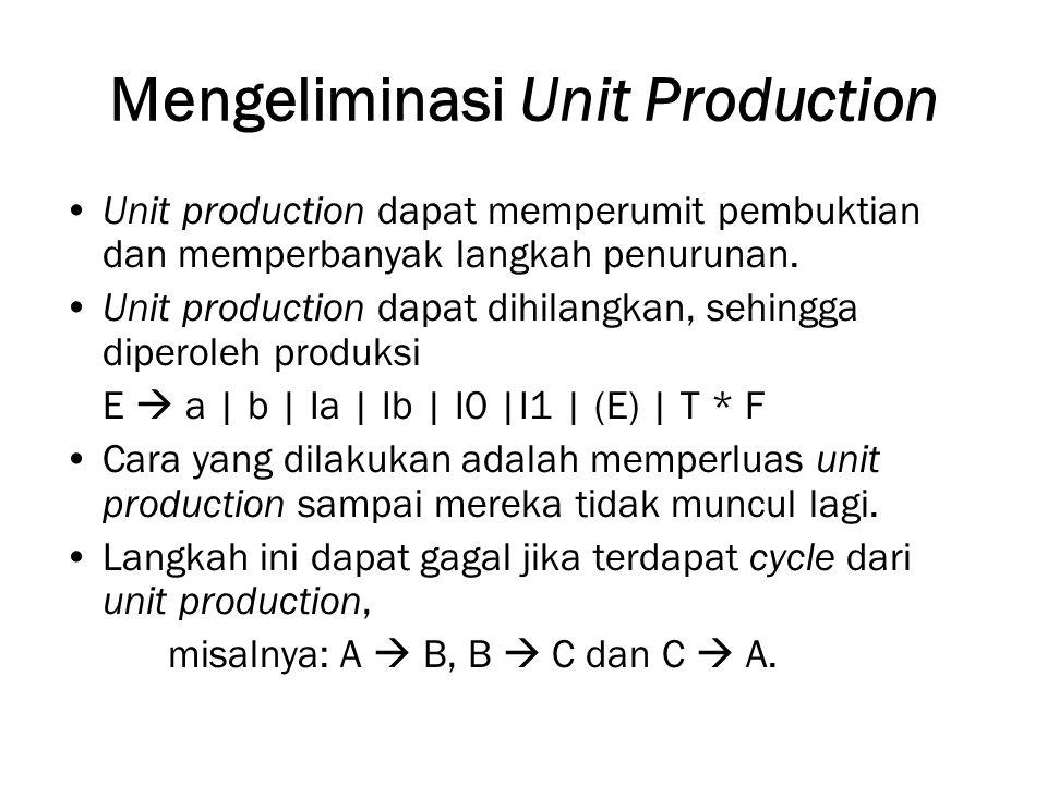 Mengeliminasi Unit Production