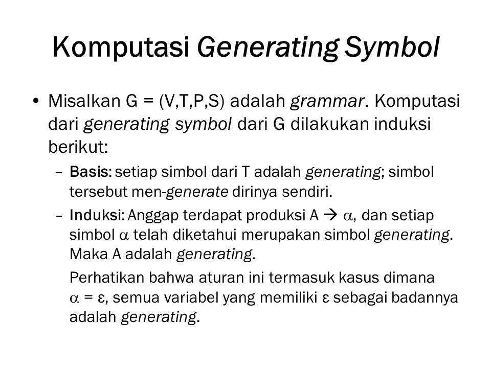 Komputasi Generating Symbol