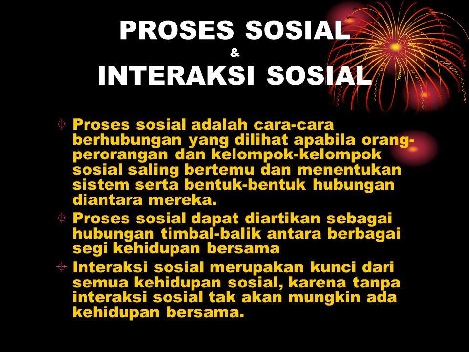PROSES SOSIAL & INTERAKSI SOSIAL