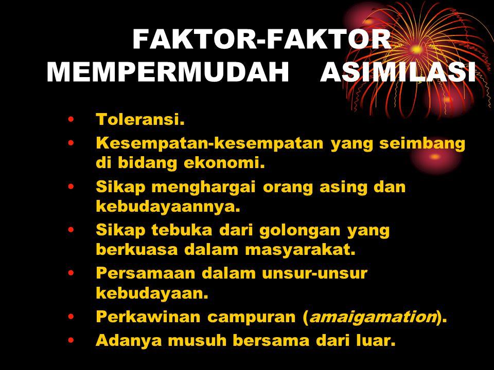 FAKTOR-FAKTOR MEMPERMUDAH ASIMILASI