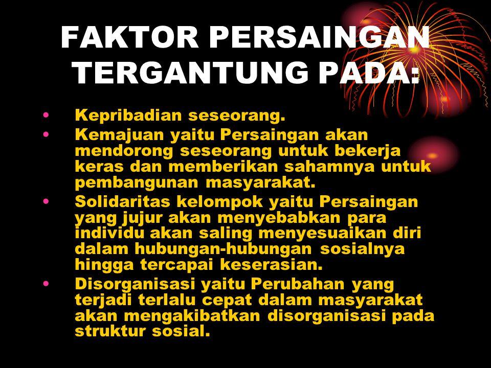 FAKTOR PERSAINGAN TERGANTUNG PADA: