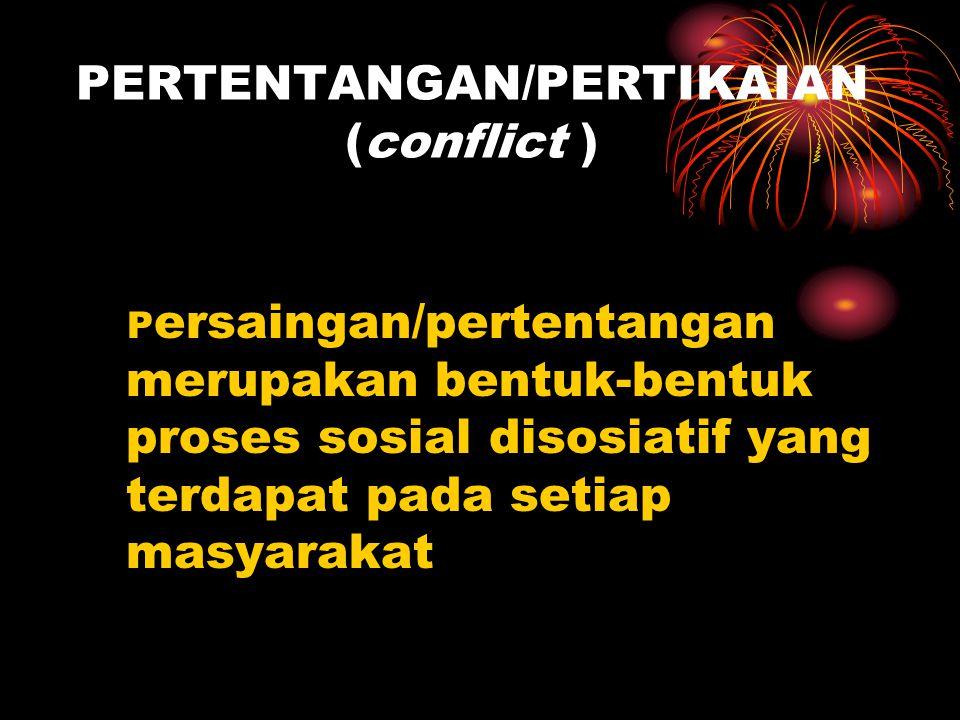 PERTENTANGAN/PERTIKAIAN (conflict )