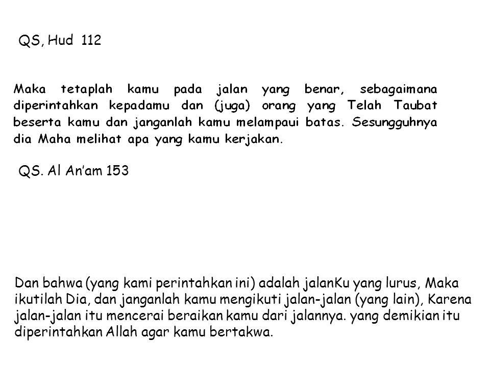 QS, Hud 112 QS. Al An'am 153