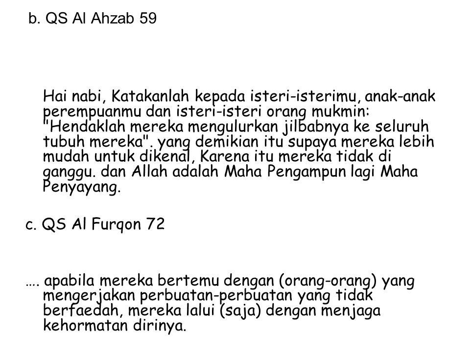 b. QS Al Ahzab 59