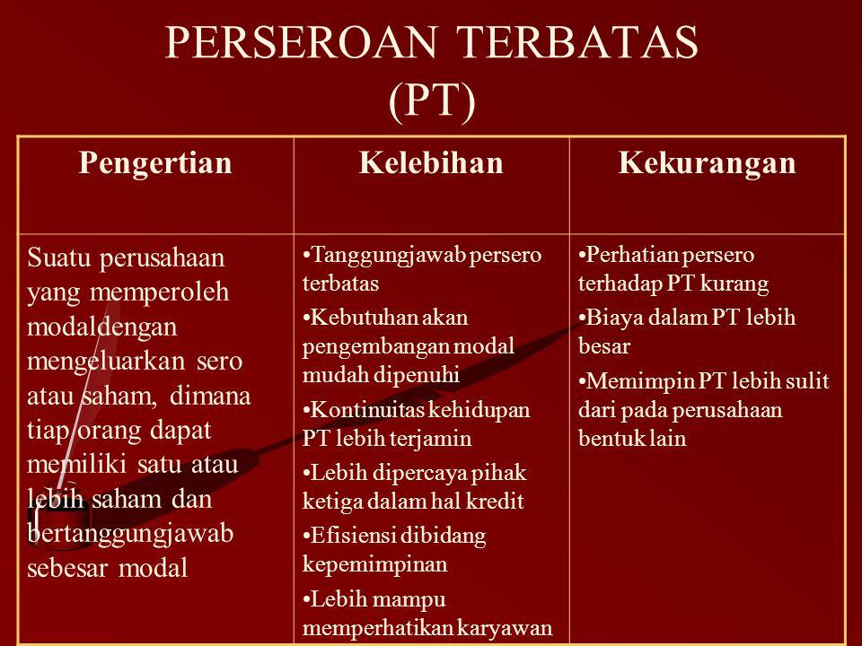 PERSEROAN TERBATAS (PT)
