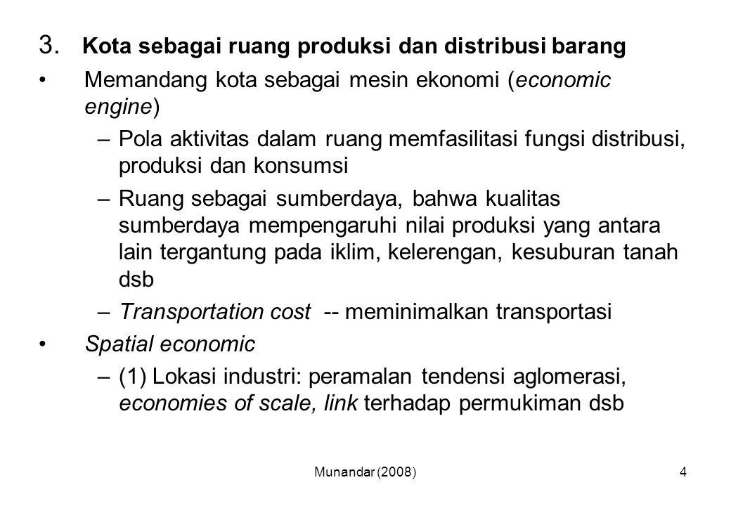 3. Kota sebagai ruang produksi dan distribusi barang