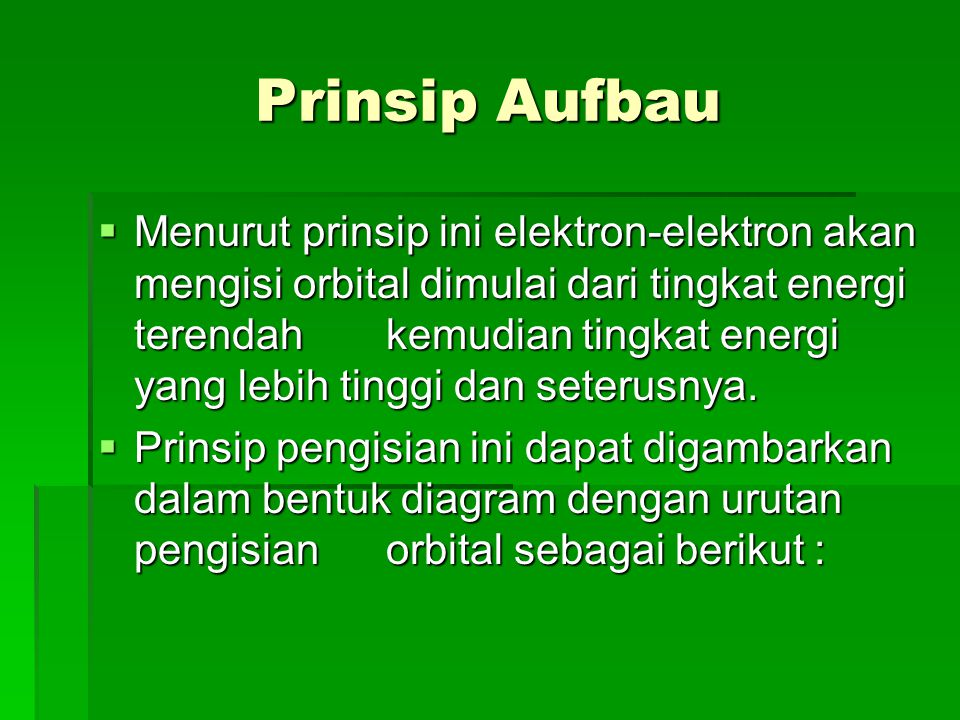 Prinsip Aufbau