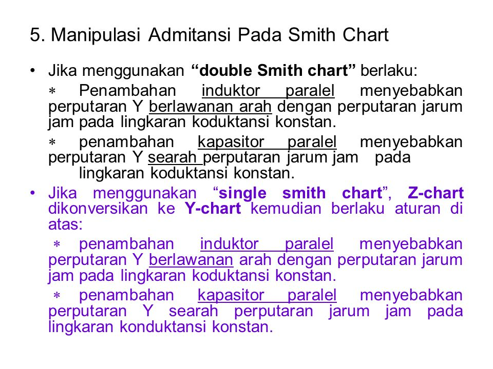 5. Manipulasi Admitansi Pada Smith Chart