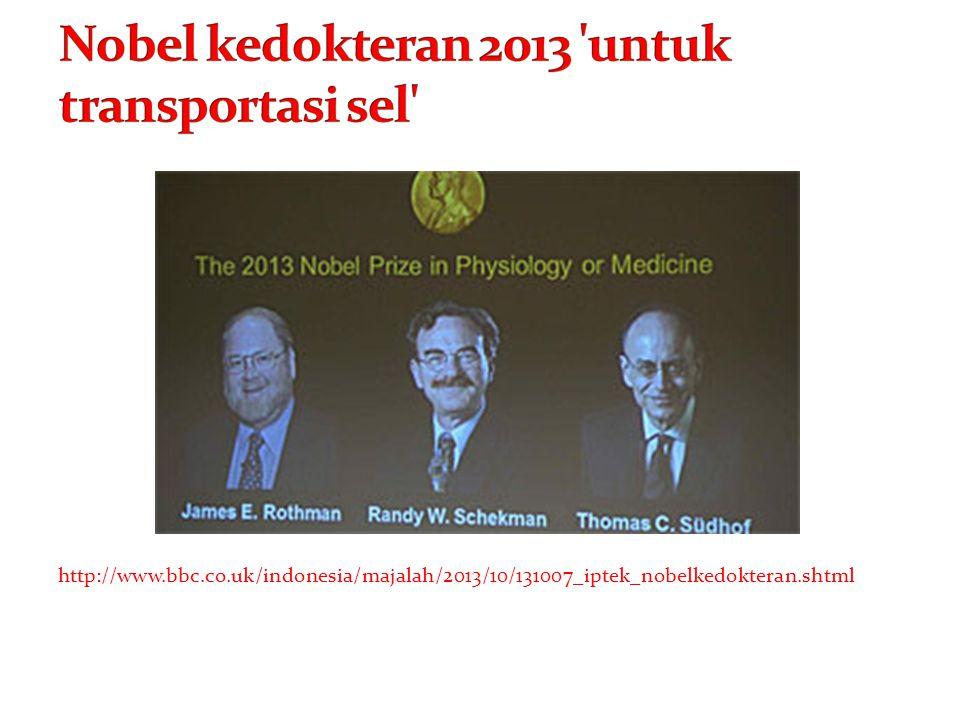 Nobel kedokteran 2013 untuk transportasi sel