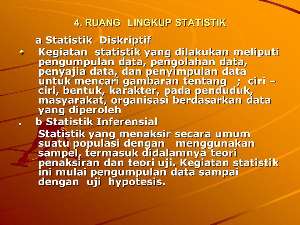 4. RUANG LINGKUP STATISTIK