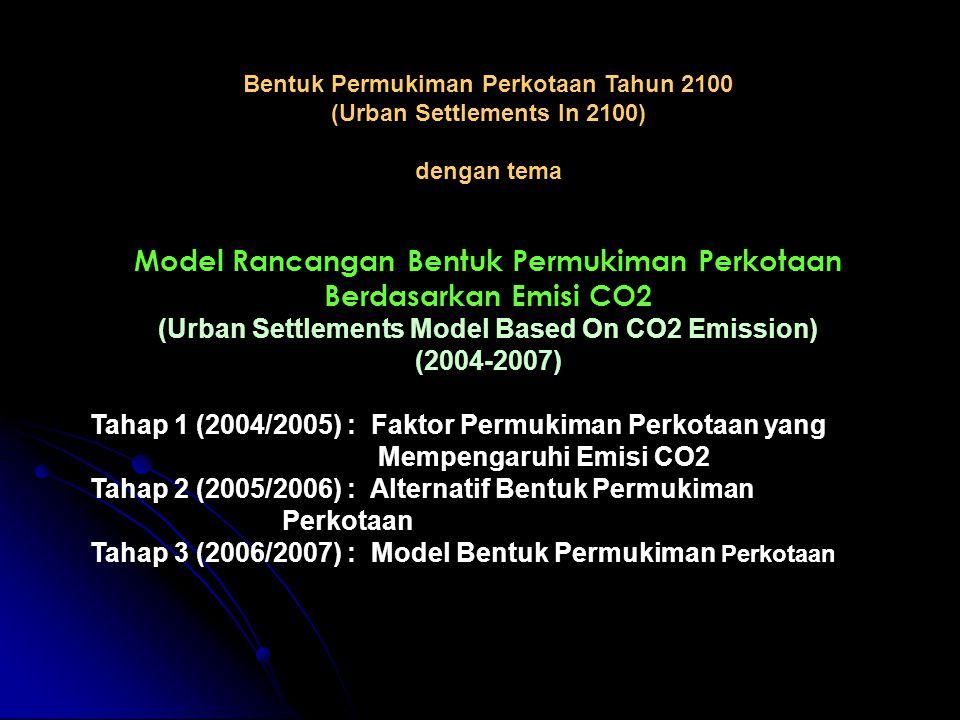 Model Rancangan Bentuk Permukiman Perkotaan Berdasarkan Emisi CO2