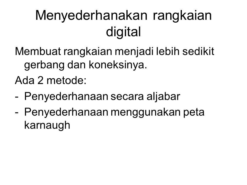 Menyederhanakan rangkaian digital