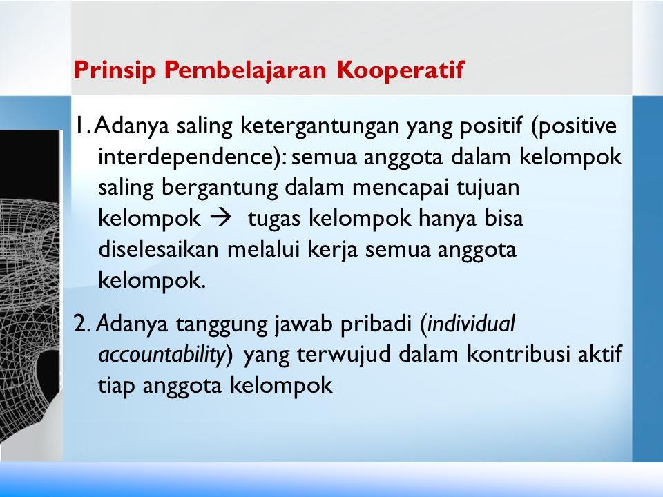 Prinsip Pembelajaran Kooperatif