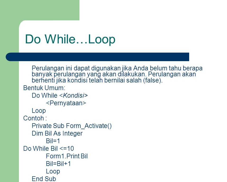 Do While…Loop