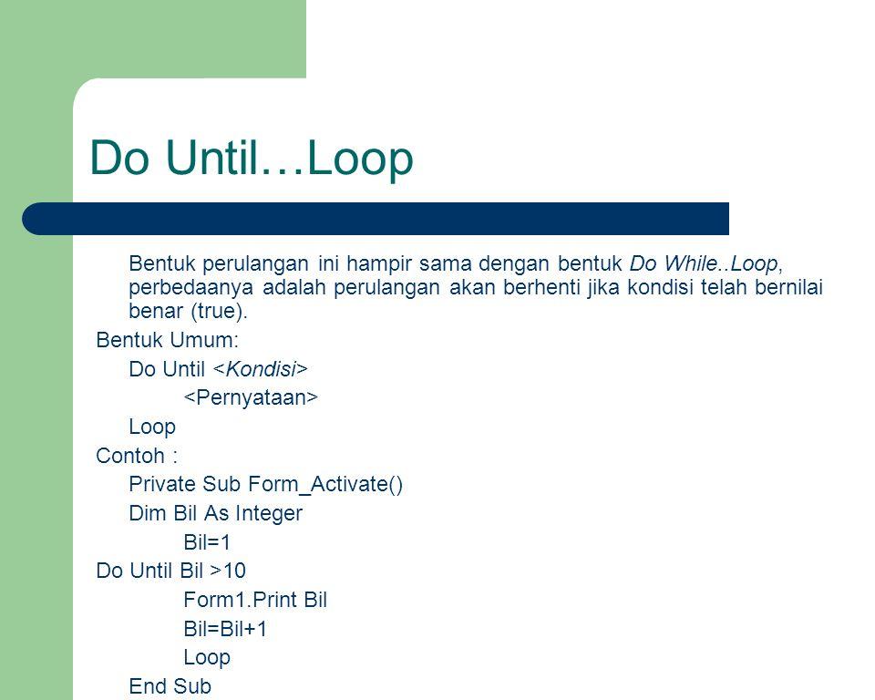 Do Until…Loop