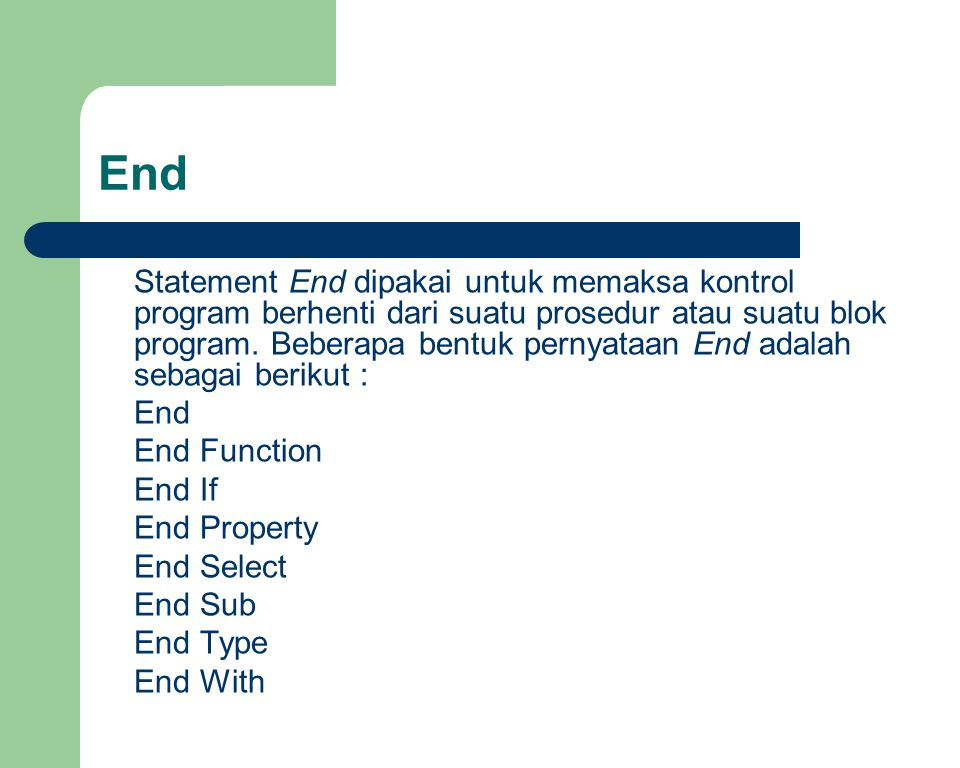 End End End Function End If End Property End Select End Sub End Type