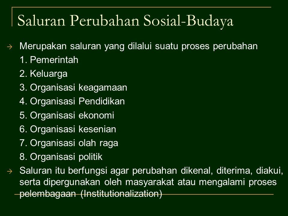 Saluran Perubahan Sosial-Budaya