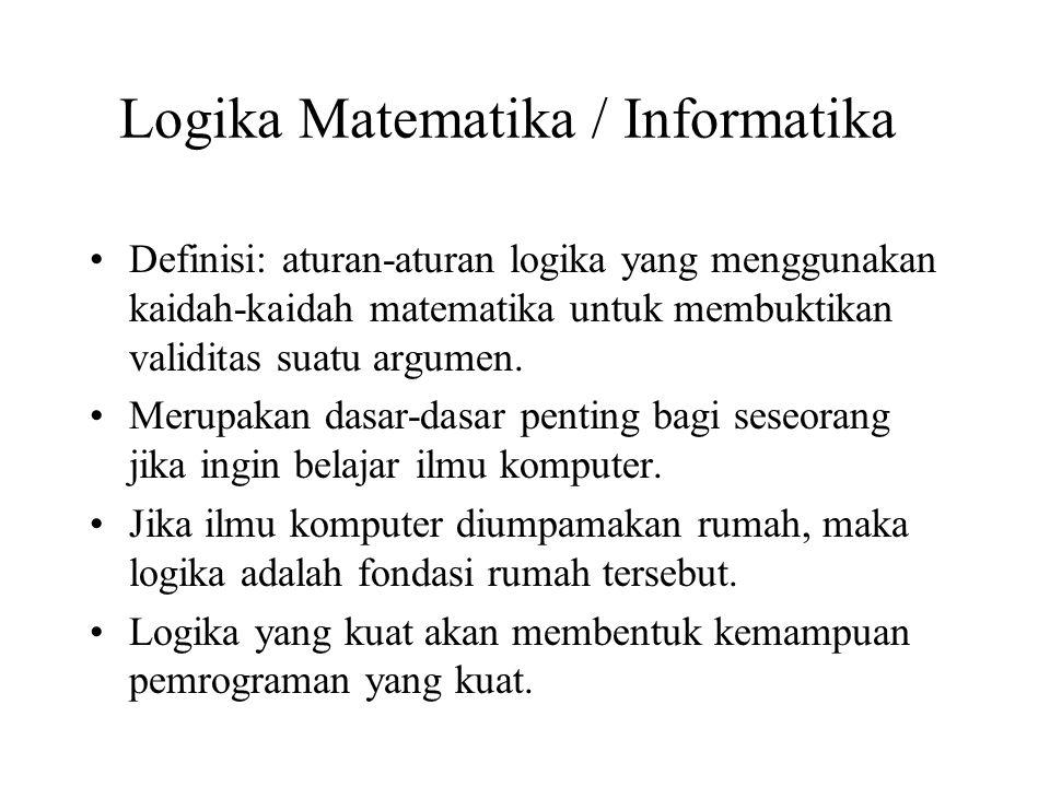 Logika Matematika / Informatika