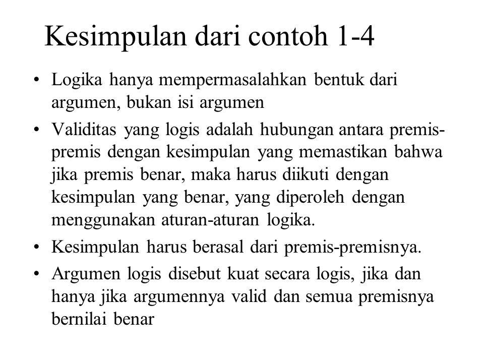 Kesimpulan dari contoh 1-4