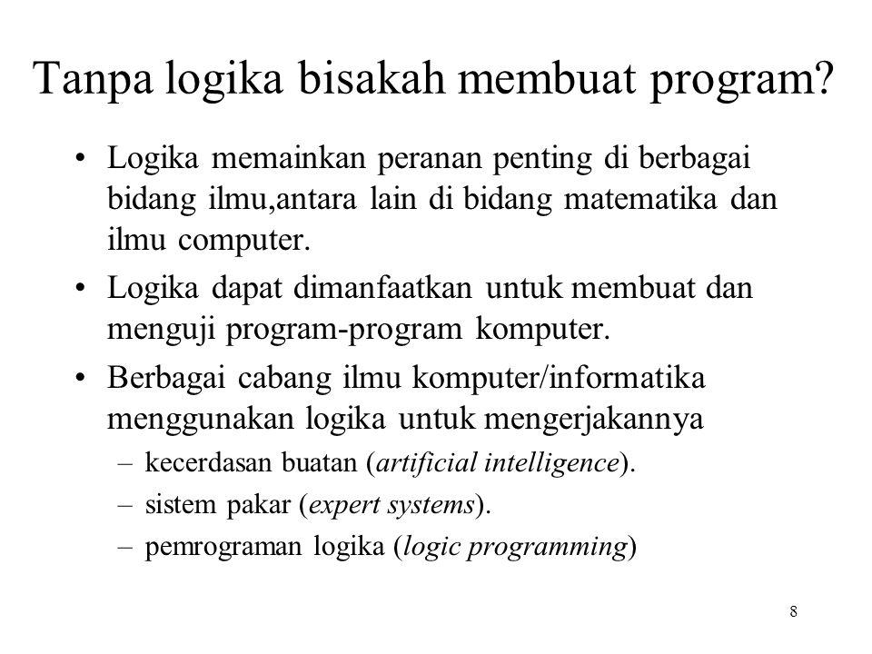Tanpa logika bisakah membuat program