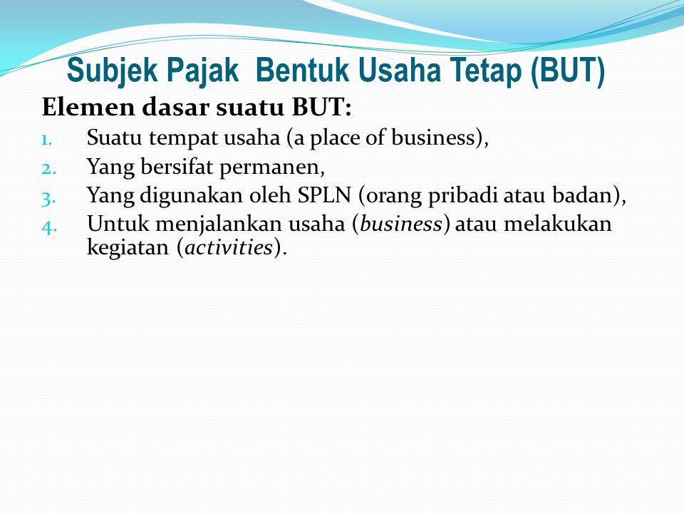 Subjek Pajak Bentuk Usaha Tetap (BUT)
