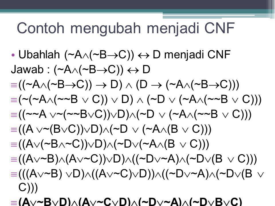 Contoh mengubah menjadi CNF