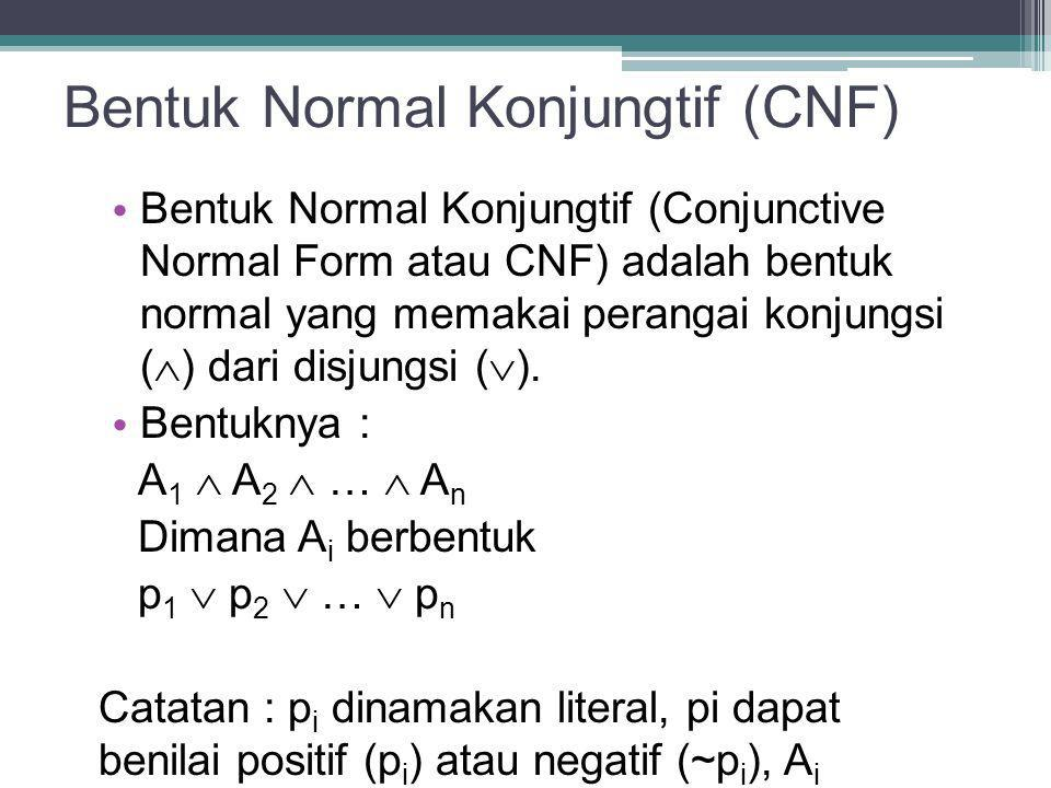 Bentuk Normal Konjungtif (CNF)