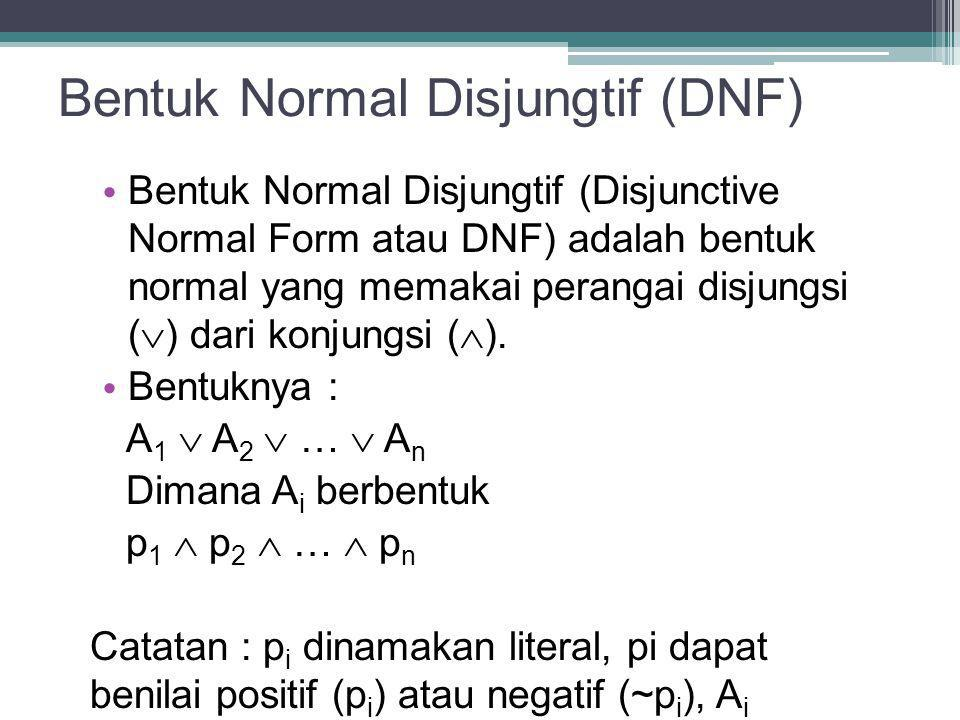 Bentuk Normal Disjungtif (DNF)