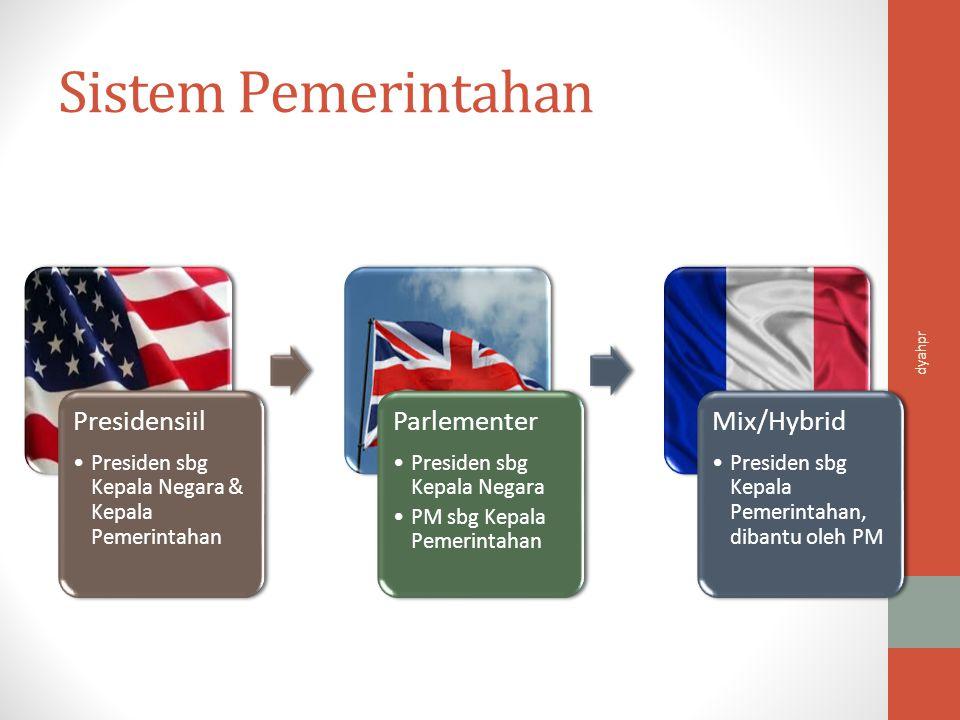Sistem Pemerintahan Presidensiil Parlementer Mix/Hybrid