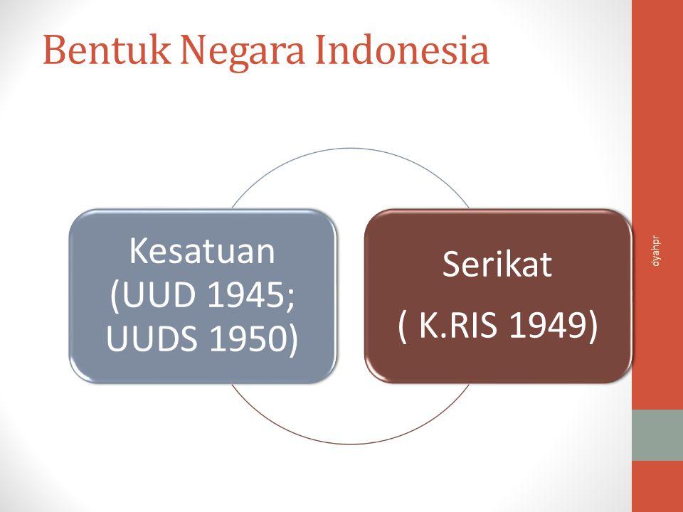 Bentuk Negara Indonesia