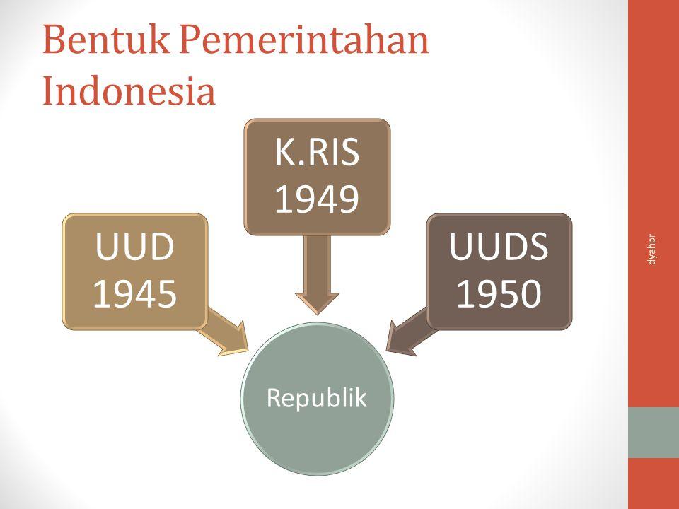 Bentuk Pemerintahan Indonesia